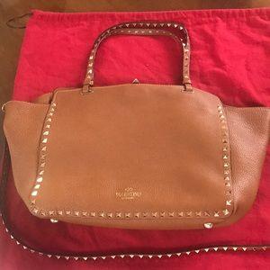 Valentino Rockstud grained leather tote